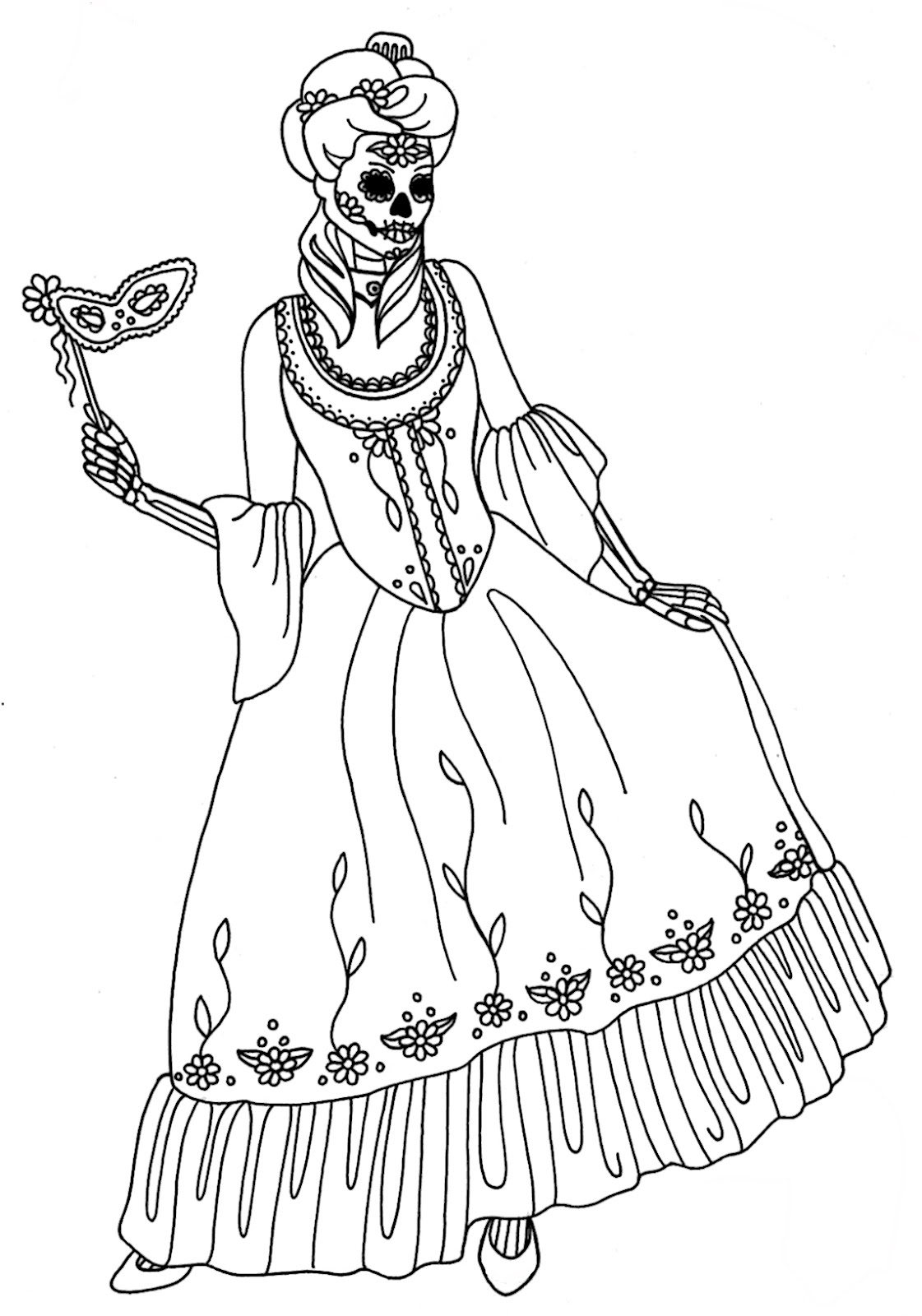 free printable skeleton coloring pages - yucca flats n m october 2012