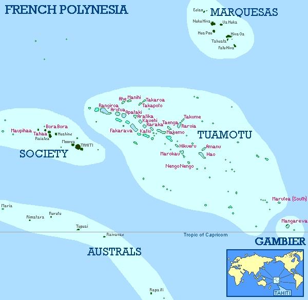 Mapas da Polinésia Francesa | França