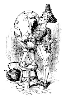humpty dumpty alice looking glass illustration digital download