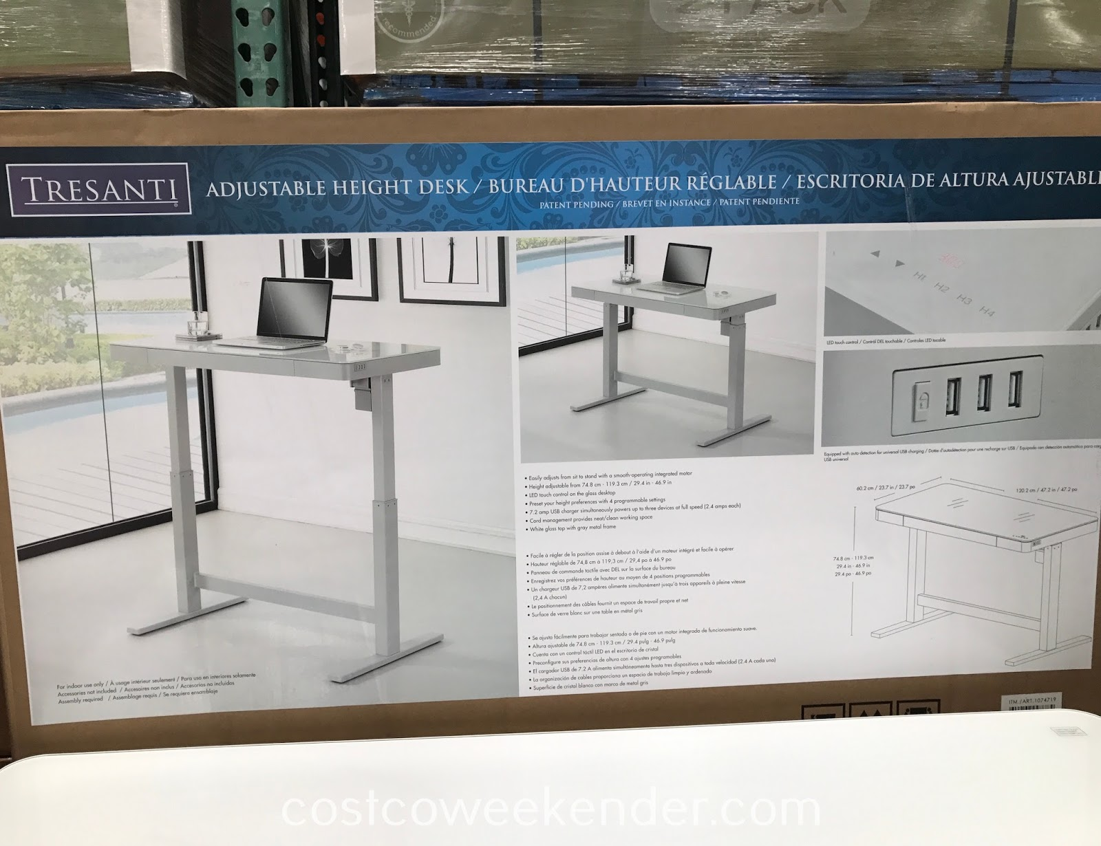 Costco 1074719 - Tresanti Nouveau Adjustable Height Desk: great for any office