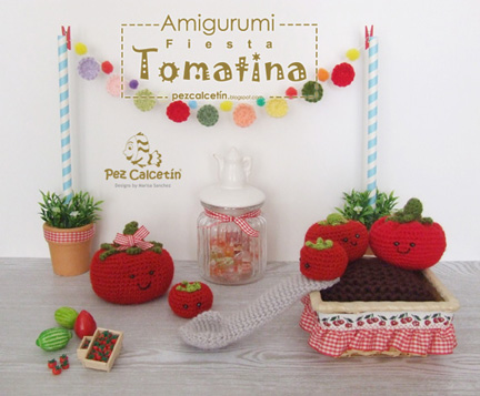 """amigurumi: tomates"" ""crochet"" ""pez calcetin""  ""lanaterapia"" ""bienestar"" ""wellbeing"" ""ganchillo"""