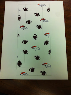 Denver Bronco Chocolate Covered Bacon Box Lid