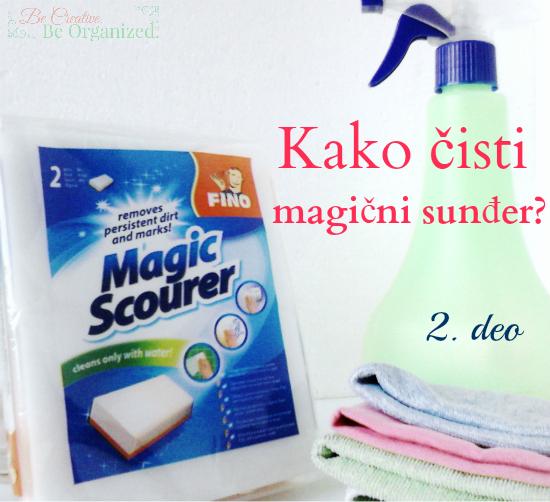 Kako čisti magični sunđer?