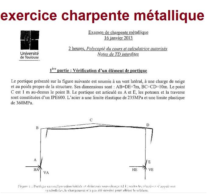 Exercice charpente m tallique outils livres exercices et vid os - Detail charpente metallique ...