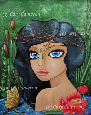 http://www.ebay.com/itm/ORIGINAL-folk-art-NYMPH-flower-BIG-EYE-girl-FANTASY-Lowbrow-Painting-CARYCAMERON-/222328301409?ssPageName=STRK:MESE:IT