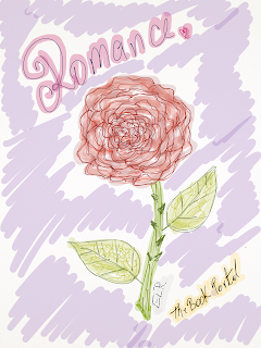rose, sketch, drawing, flower, romance, the book portal