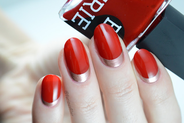 valentine's day nail ideas red rose gold ruffian