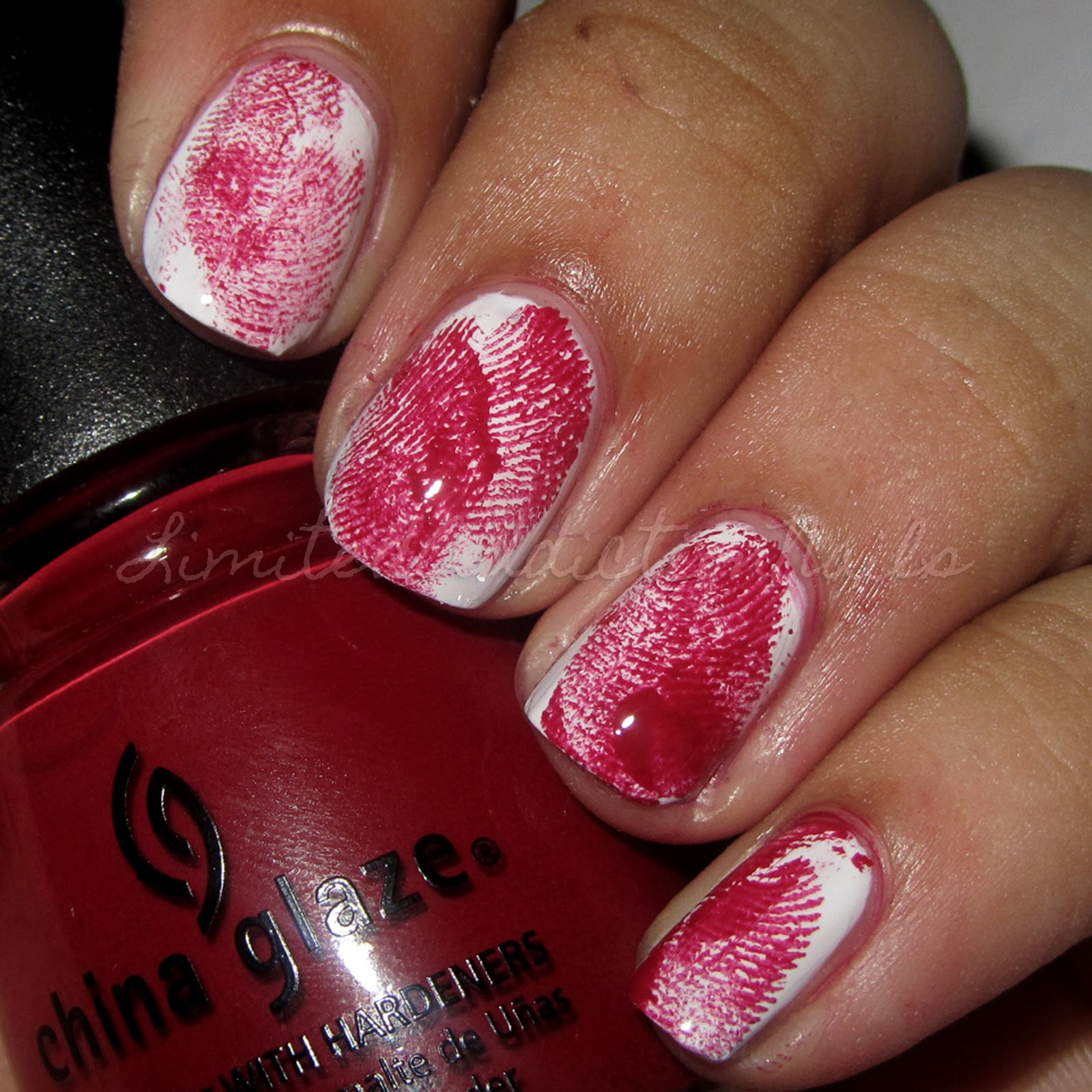 LimitedAddictionNails: Halloween Nails - Bloody Fingerprint