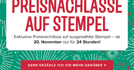 Stampin up Preisspektakel im November