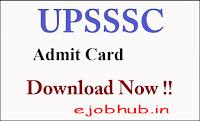 UPSSSC Stenographer Admit Card