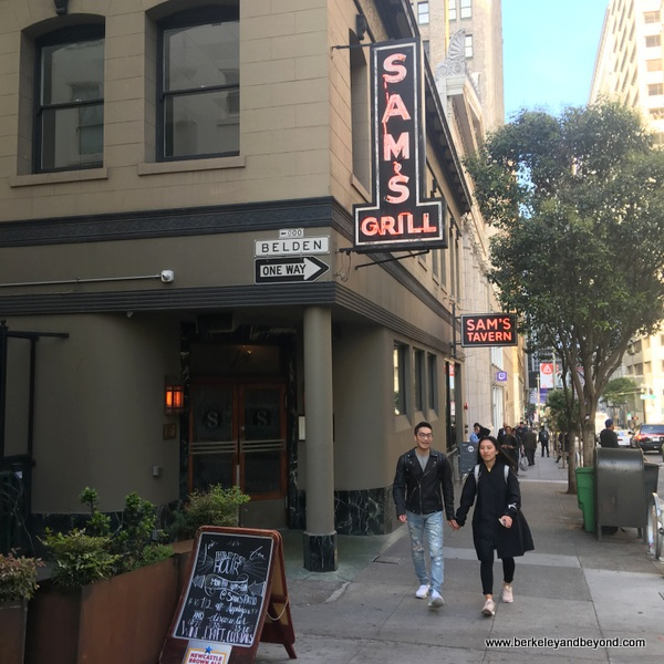 exterior of Sam's Grill & Seafood Restaurant in San Francisco, California