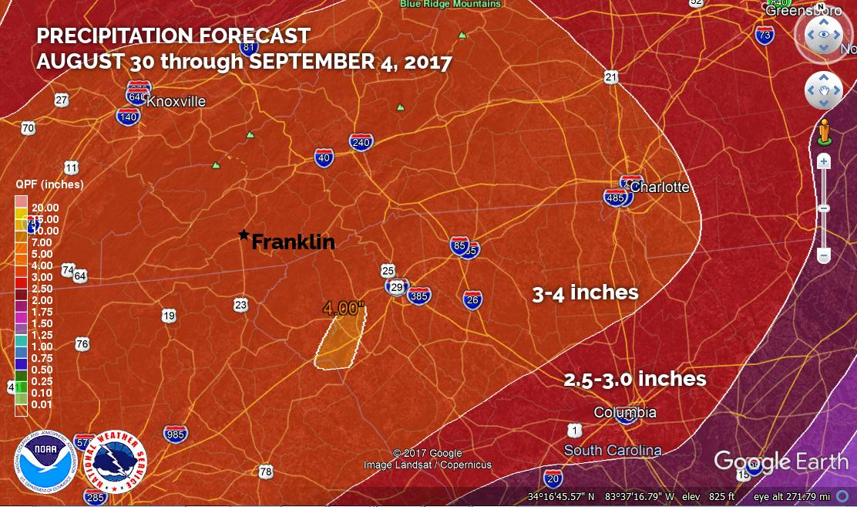 5 Day Precipitation Forecast
