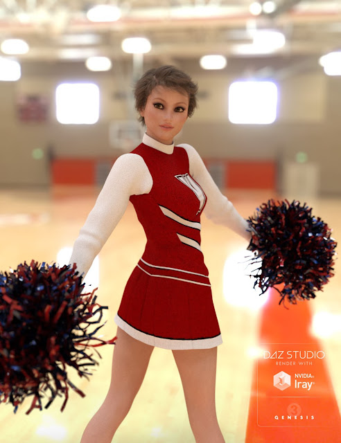 Cheer Fantasy Cheerleader Poses Bundle