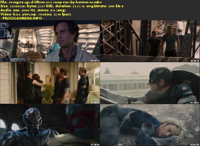 Descargar Avengers: Age of Ultron Subtitulado por MEGA.