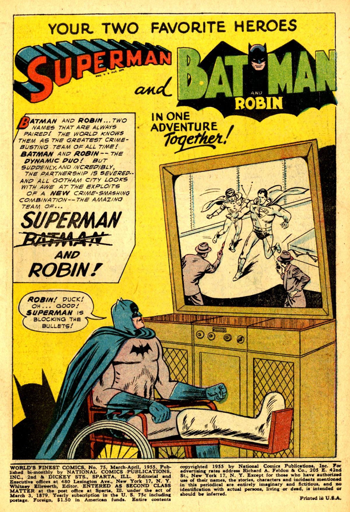 Read online World's Finest Comics comic -  Issue #75 - 3