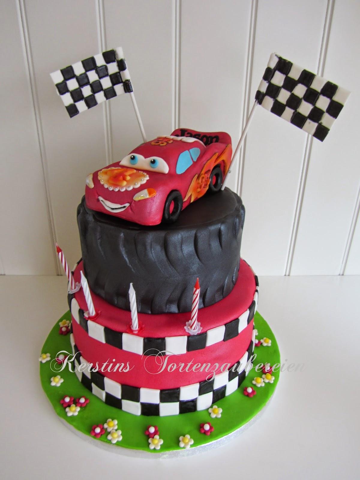 Cars Lightning Mcqueen Pinata Torte