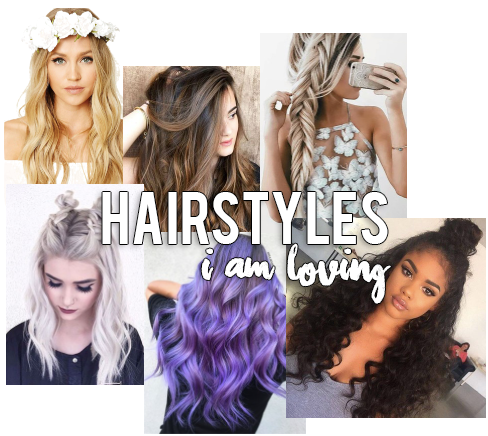 Hairstyles I Am Loving Collage