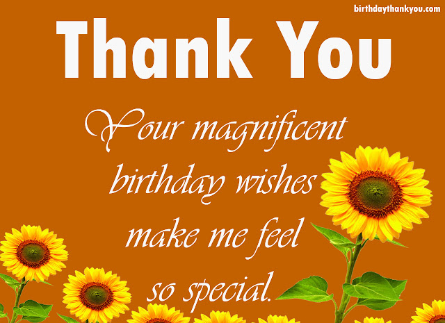 Thank you for the birthday wishes beautiful birthday thank you messages and notes m4hsunfo Images