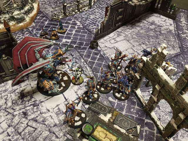 Warhammer 40k battle report - Maelstrom of War - Tactical Escalation - 1000 points - Thousand Sons vs Militarum Tempestus.