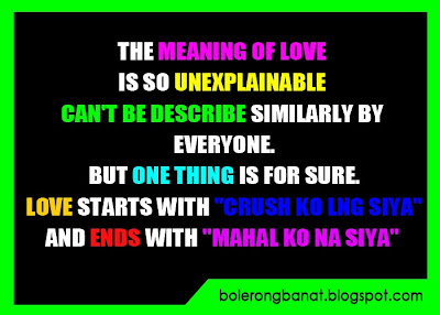 Bolerong Banat - Cheezy Quotes: The meaning of LOVE is so ...