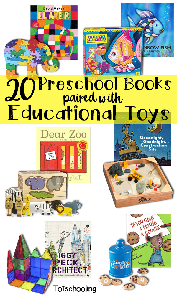 Toys For Preschoolers : Preschool books paired with educational toys