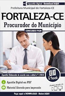 Apostila concurso PGM para Procurador de Fortaleza - Download.