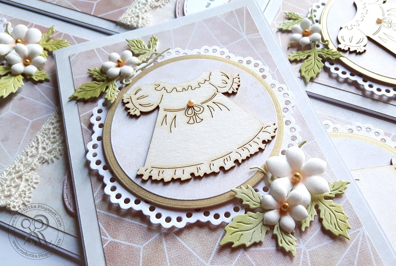 Kartka ręcznie robiona z tekturową sukieneczką