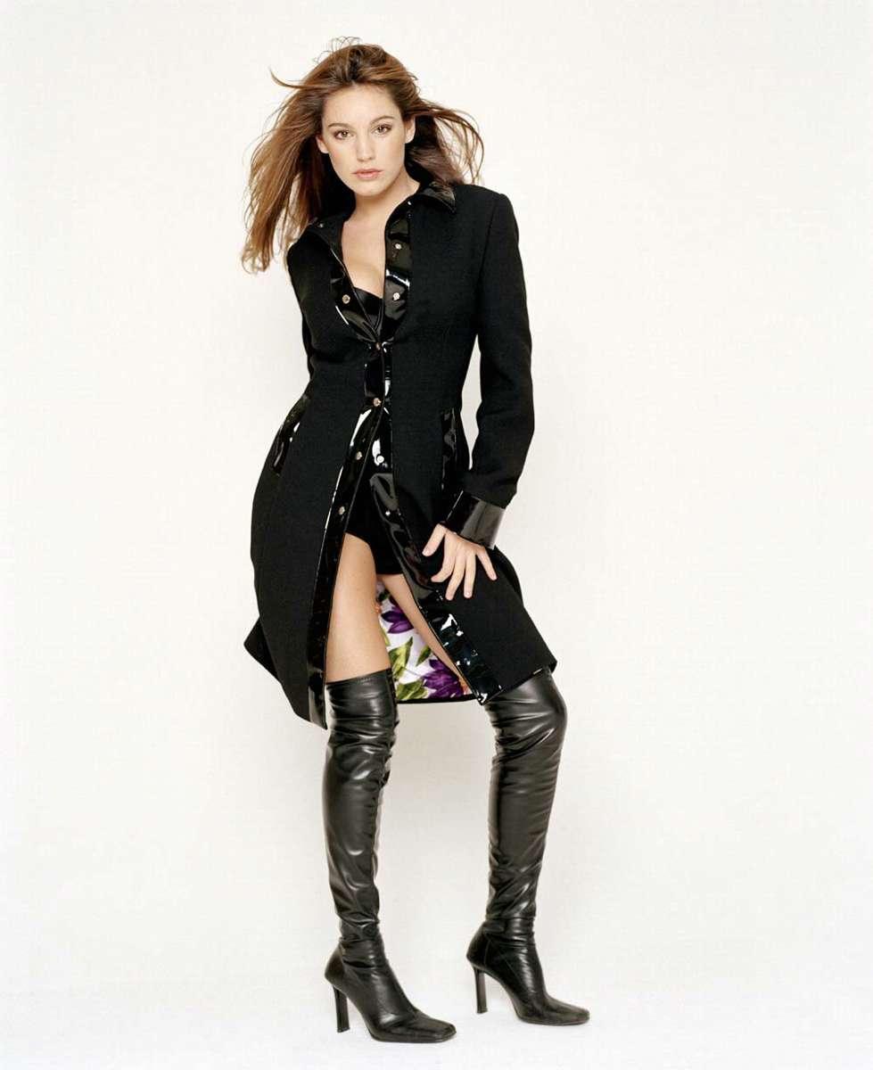 Kelly Brook Hot Latex Lingerie Shoot  World Actress -9780