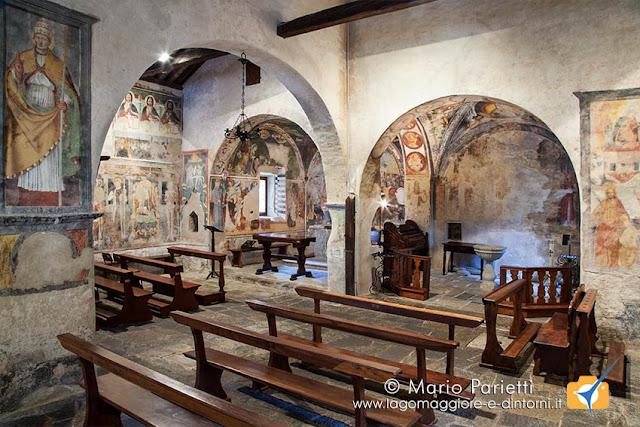 Interno della chiesa di sant'Antonio abate a Viconago