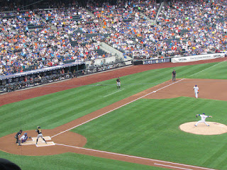First pitch, Pirates vs. Metropolitans