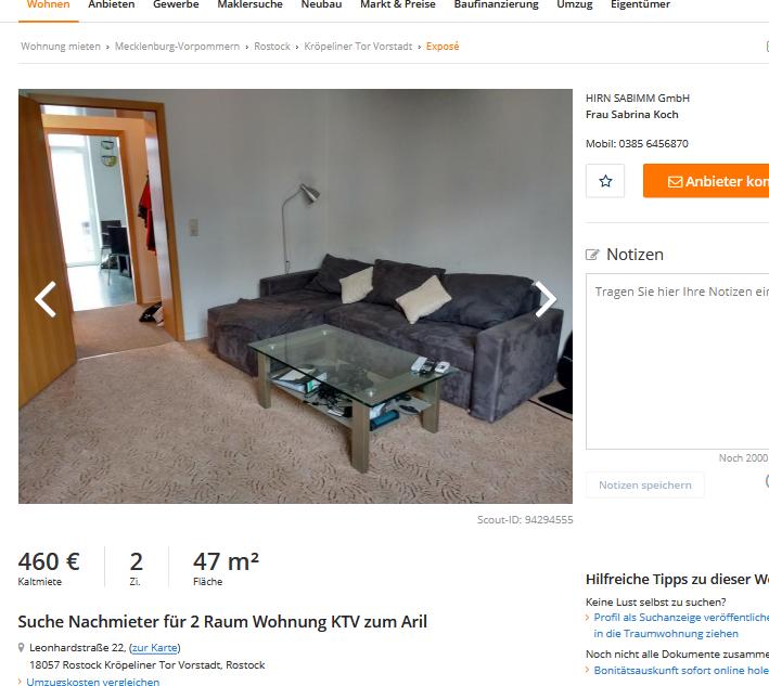 Raum Wohnung Rostock