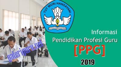 Penetapan Peserta PPG/ PPGJ Tahun 2019 Angkatan 1 : www.galeriguru.net