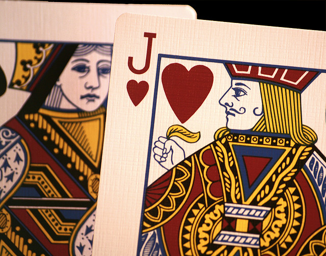 'Love on the cards?' por Alan Cleaver