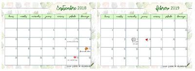 calendario curso 2018-19