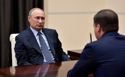Vladimir Putin at a meeting with Alexander Tsybulsky.