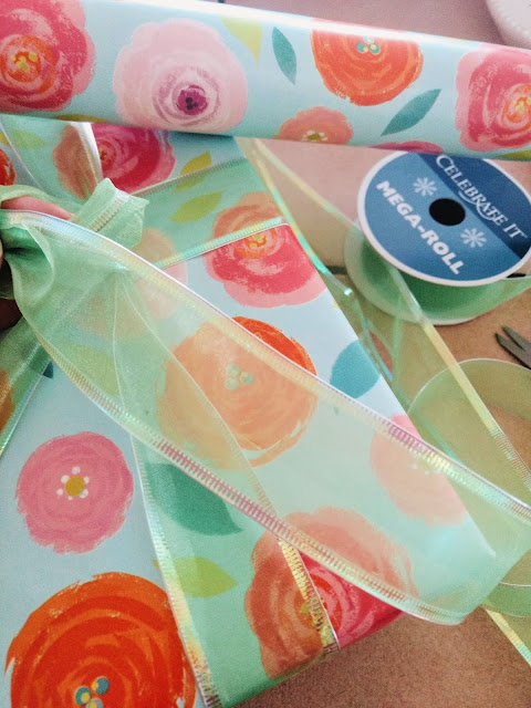 flowered wrapping paper