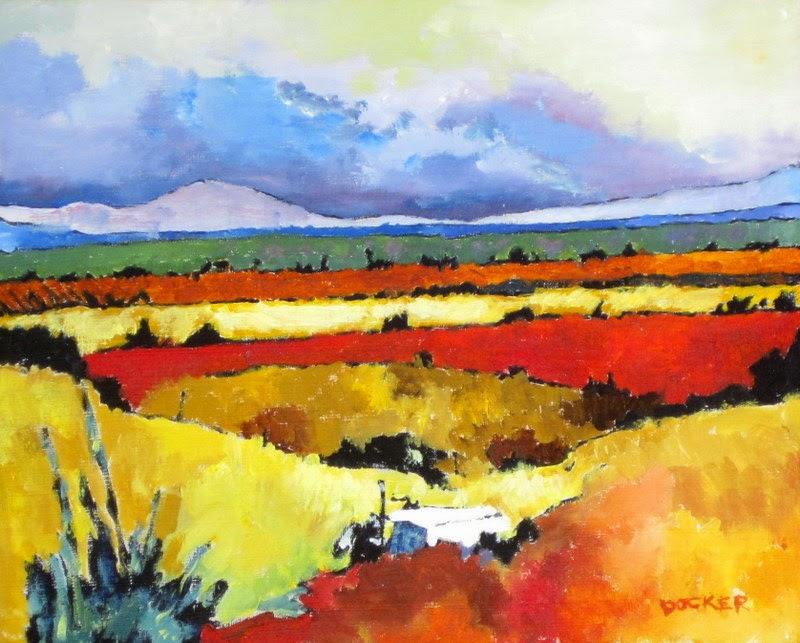 colorful painting   landscape   storm art