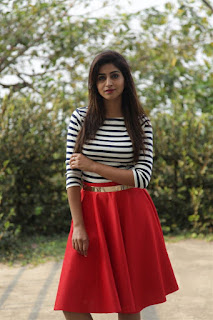 Varshini Sounderajan Long Legs Show In Mini Red Skirt (3)