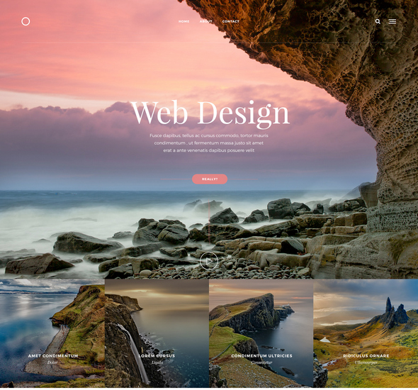 Web Design – Free PSD template