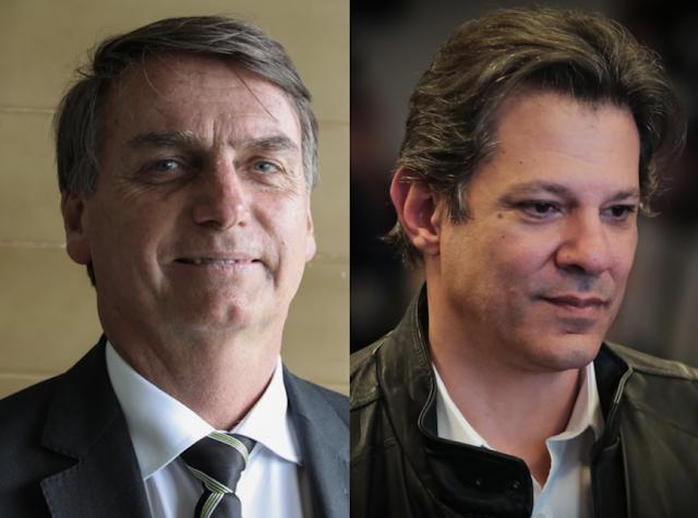 NT/MDA: Bolsonaro, com 28,2%, e Haddad, com 17,6%, iriam ao 2º turno