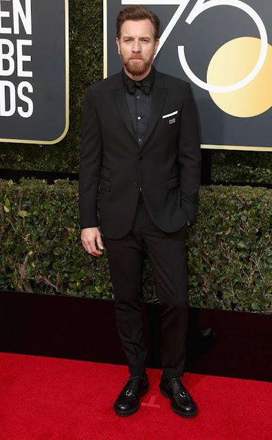 Golden Globes 2018, Red Carpet, Alfombra Roja, Tuxedos, Trajes, Ternos, Hombres, Looks, Outfits, Premiación, Masculinos, Estilismos, Vestir bien, Ewan McGregor