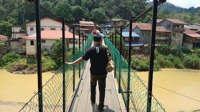 Jambatan Gantung Kolong Pahat dan Rainbow Waterfall (Air Terjun Pelangi) di Sg. Lembing