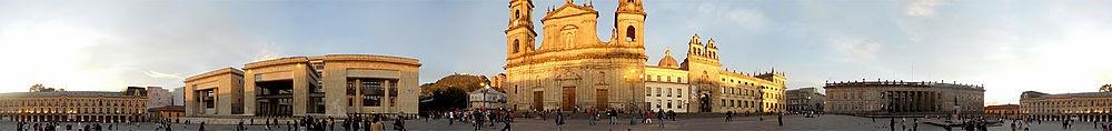 Panoramica de la Plaza de Bolívar