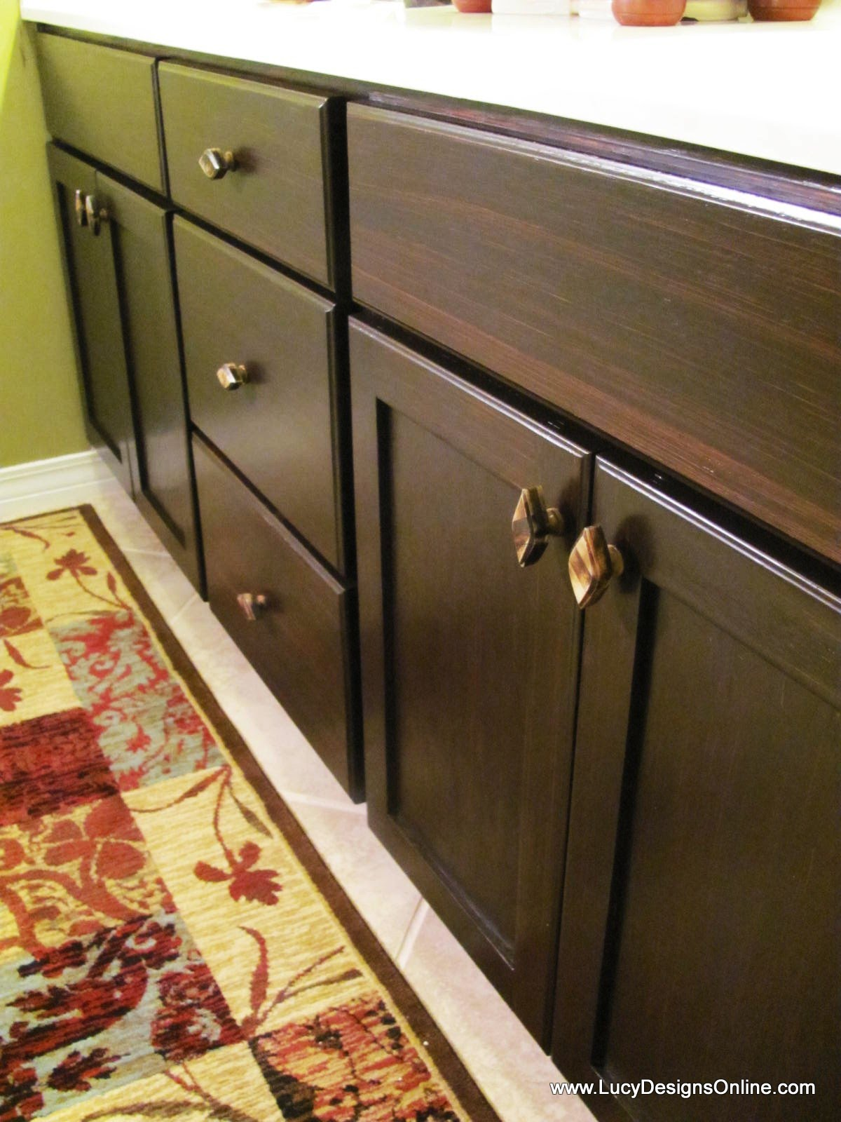 How To Use Gel Stain Diy Stained Master Bath Cabinet Makeover Lucy Designs