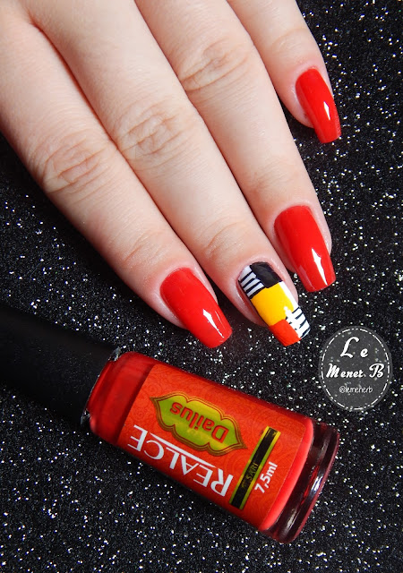 nail art vermelha