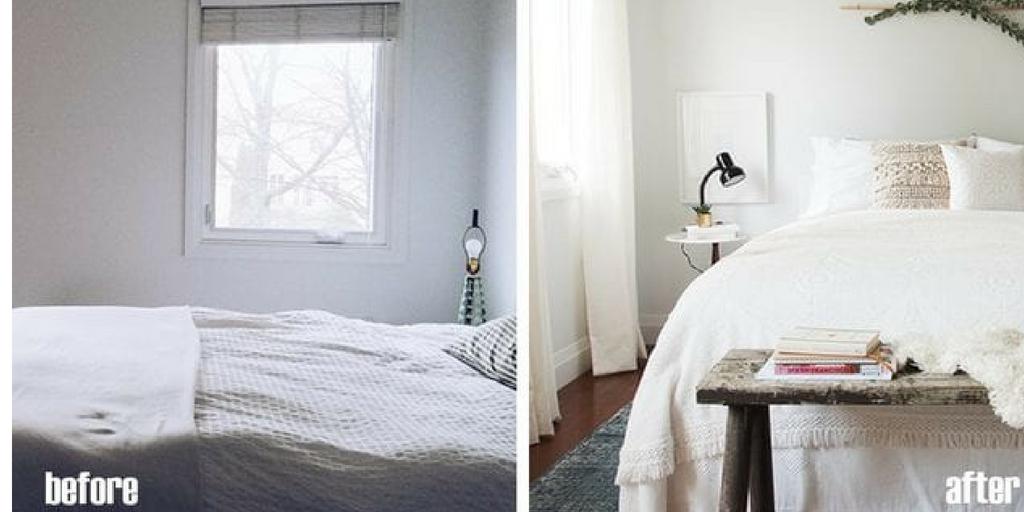 Paneles para cortinas. Antes y después.