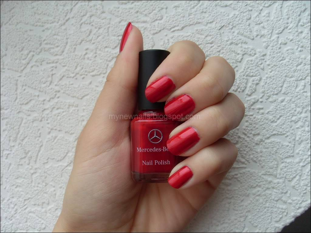 my new nails notd mercedes benz zircon red slk edition. Black Bedroom Furniture Sets. Home Design Ideas
