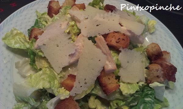 salsa, césar, pollo, ensalada, lechuga, sin gluten