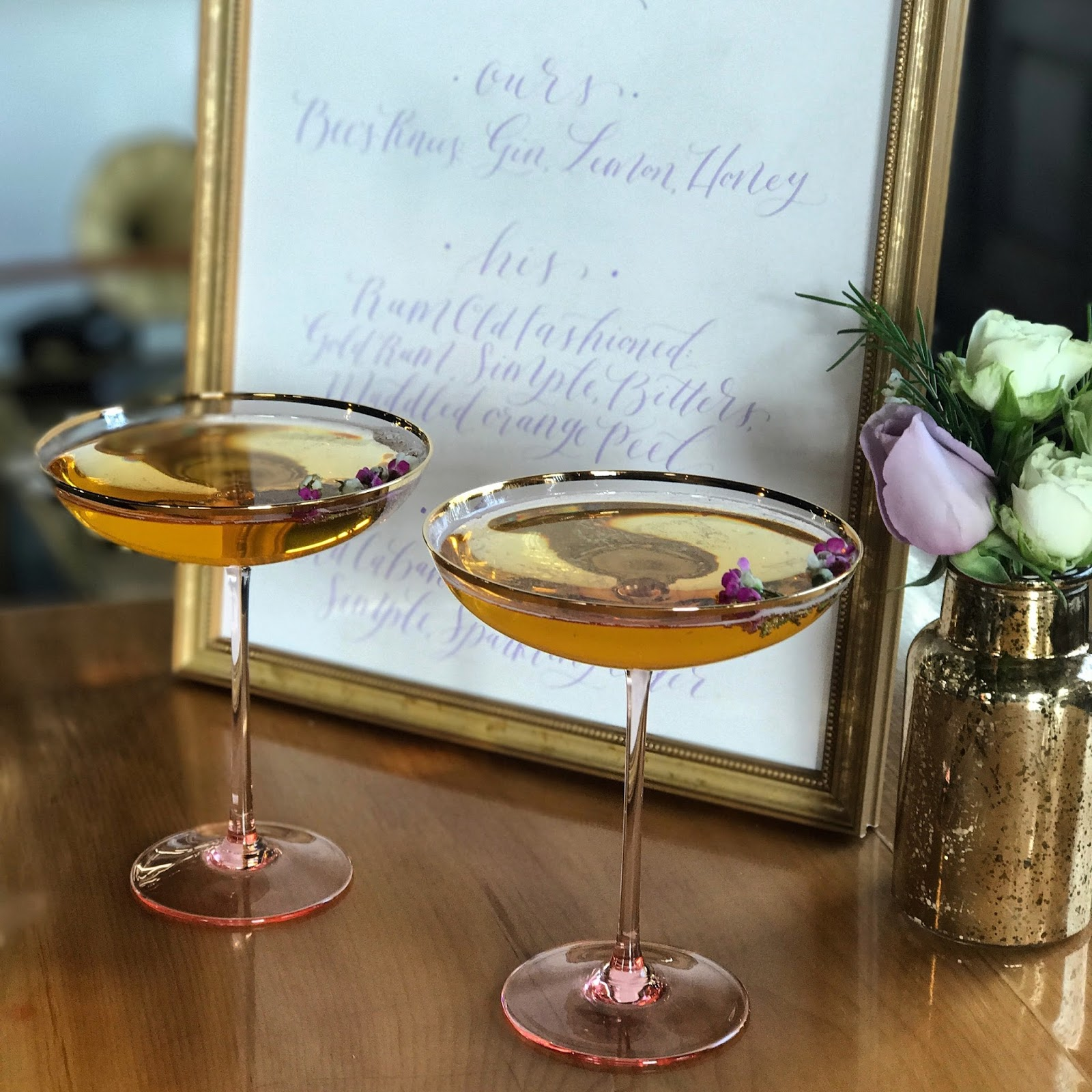 signature cocktail, calligraphy, short path distillery