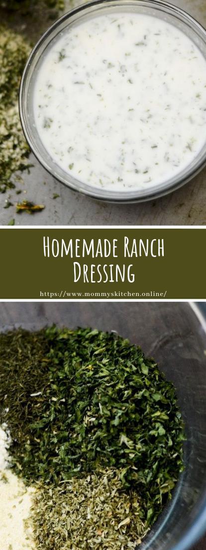 Homemade Ranch Dressing #vegan #vegetarian